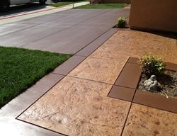 Stamped Stained Walkway Concrete Walkways KB Concrete Staining Norco, CA