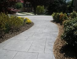 Stamped Walkway, Stone Stamp Concrete Walkways Schneider Contracting Corporation Alexandria, VA
