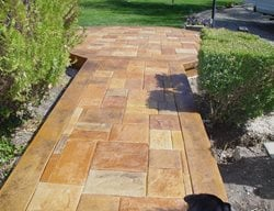 Stone, Border Concrete Walkways Apex Concrete Designs, Inc. Roseville, CA