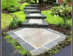 Stone Border, Concrete, Walkway, Garden Concrete Walkways Stone Images Masonry and Concrete Clifton, VA