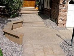 Title, Exposed Aggregate Concrete Walkways Colorado Hardscapes Denver, CO