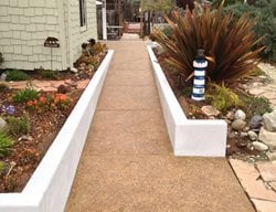 Aggregate Walkway, Pebble Walkway Exposed Aggregate Burch Concrete Solutions Los Osos, CA
