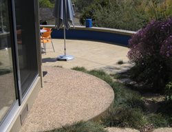 Exposed Concrete, Round Landing Exposed Aggregate Burch Concrete Solutions Los Osos, CA