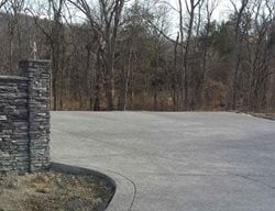 Grey Aggregate, Exposed Driveway Exposed Aggregate Creative Concrete Solutions Eagleville, TN