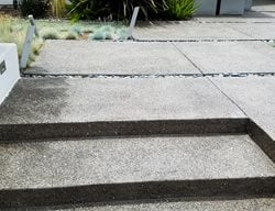Modern Entryway, Exposed Aggregate Steps Exposed Aggregate Concepts In Concrete Const. Inc. San Diego, CA