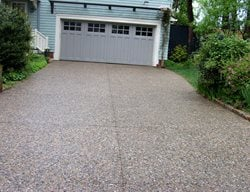 Pebble Finish, Driveway Exposed Aggregate Modern Concrete East Providence, RI