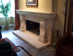 Concrete Fireplace, Concrete Fireplace Surround Fireplace Surrounds Concrete Interiors Martinez, CA