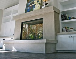 Custom Fireplace, Hand Made Fireplace Fireplace Surrounds Concrete Interiors Martinez, CA