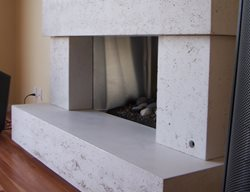 Fireplace Surround, Concrete Fireplace, Cement Fireplace Fireplace Surrounds Concrete Interiors Martinez, CA
