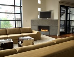 Grey, Corner Fireplace Surrounds Reaching Quiet Design Charlotte, NC