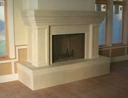Large, Natural Tone Fireplace Surrounds Absolute ConcreteWorks Port Townsend, WA