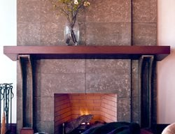 Natural, Squares Fireplace Surrounds Buddy Rhodes Concrete Products SF, CA