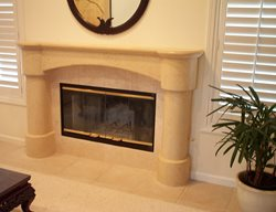 Sand, Collums Fireplace Surrounds Concrete Interiors Martinez, CA