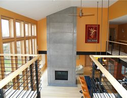 Tall Gray, Panels Fireplace Surrounds Custom Crete Werks LLC Racine, WI