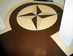 Brown, Tan Floor Logos and More Absolute Concrete Artisans Granbury, TX