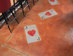 Playing Cards, Red Floor Logos and More Floor Seasons Inc Las Vegas, NV