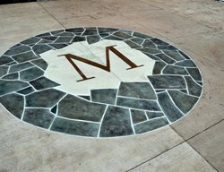 Floor Logos and More Salzano Custom Concrete Aldie, VA