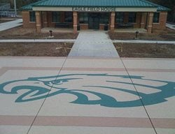 Stained, College, Patio, Field House Floor Logos and More Pattern Pro Concrete Katy, TX