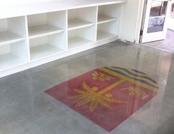 Stencel, Polished Concrete Floor Logos and More Polish-Crete inc Hollywood, FL