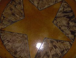 Wood, Star Floor Logos and More Custom Concrete Solutions Schertz, TX