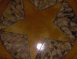 Wood, Star Floor Logos and More Custom Concrete Solutions Schertz, TX