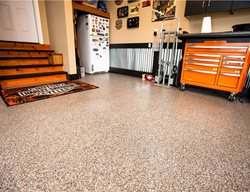 Epoxy Flake, Garage Floor Garage Floors Symphony Concrete Coatings Burlington, MA