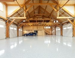 Light Colored Garage Floor Coating, Black Specks Garage Floors Reformed Concrete LLC Quarryville, PA