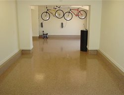 Tan Speckled, Epoxy Floor Garage Floors Diamond D Company Capitola, CA