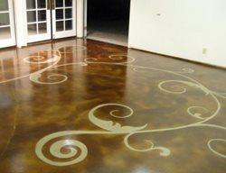 Concrete Floor Art Get the Look - Stained Floors Floor Seasons Inc Las Vegas, NV