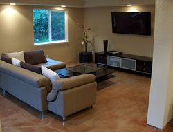 Stain, Tan Get the Look - Stained Floors Colors On Concrete Upland, CA