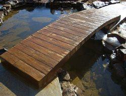 Garden Bridge, Wood Stamp Get the Look - Stamping Baltz and Sons Concrete Services Somerville, TN
