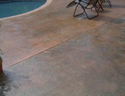 Stamped Leaf Pattern, Pool Deck Get the Look - Stamping Artistic Concrete Riverside, RI