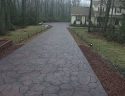 Victorian Red, Basalt Get the Look - Stamping Santarelli Stamped Concrete Wyoming, PA