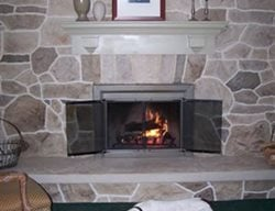 Fireplace, Vertical Interior Walls Custom DesignCrete, Inc Crescent, PA