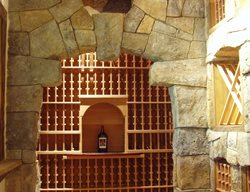 Handcarved Concrete, Concrete Wine Cellar Interior Walls VerticalArtisans.com Hickory Hills, IL