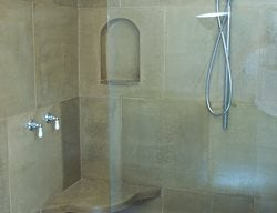 Shower, Seat Interior Walls Concrete Interiors Martinez, CA