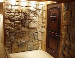 Vertical Stamped Concrete, Concrete Door Interior Walls VerticalArtisans.com Hickory Hills, IL