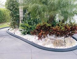 Black, Molded Planter Landscape Borders VenKrete, Inc Coconut Creek, FL