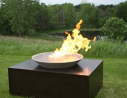 Black Concrete, Fire Feature Outdoor Fire Pits Living Stone Concrete Design Candler, NC