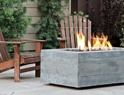 Board Formed Rectangular Fire Pit Outdoor Fire Pits Concrete Wave Design Anaheim, CA