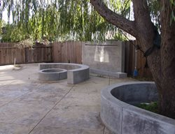 Circle, Curved Bench Outdoor Fire Pits Tom Ralston Concrete Santa Cruz, CA