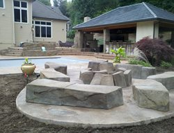 Faux Rock Fire Pit Outdoor Fire Pits Integrity Concrete Designs Woodburn, OR