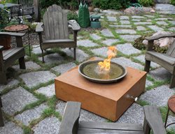 Fire Cube Outdoor Fire Pits Living Stone Concrete Design Candler, NC