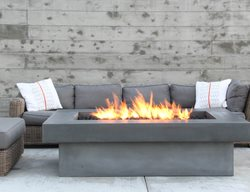 Fire Table, Cast Concrete Outdoor Fire Pits Concrete Wave Design Anaheim, CA
