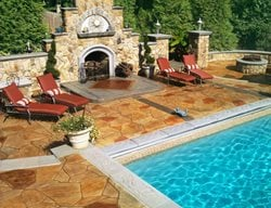Backyard Oasis Outdoor Fireplaces Greystone Masonry Inc Stafford, VA