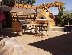 Gold, Pizza Stove Outdoor Fireplaces Tom Ralston Concrete Santa Cruz, CA