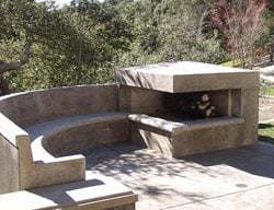 Modern, Fireplace Outdoor Fireplaces Tom Ralston Concrete Santa Cruz, CA