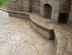 Poured Concrete Outdoor Fireplaces TJR Concrete and Stone Pittsburgh, PA