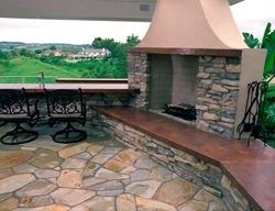 Red, Mantel Outdoor Fireplaces California Concrete Designs Anaheim, CA