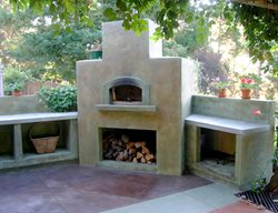 Sand, Pizza Stove Outdoor Fireplaces Tom Ralston Concrete Santa Cruz, CA